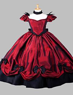 steampunk®wine röd festklänning halloween dräkt medeltida klänning klänning renässans faire kostym