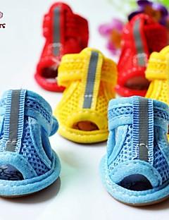 Gatos Cães Sapatos e Botas Casual Verão Primavera/Outono Cor Única Vermelho Amarelo Azul Algodão