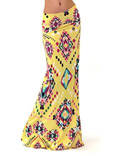 Kvinders Bodycon / Maxi Maxi Nederdele Elastisk Bomuld / Polyester