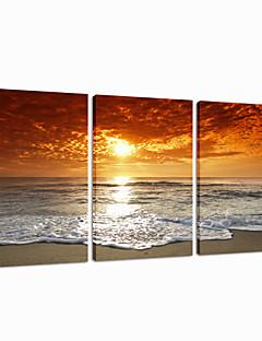 visuaalinen star®sunrise venytetty kankaalle tulostaminen 3 pannel seinä sisustus kankaalle art valmis roikkumaan