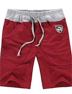 Men's Solid Casual Shorts,Cotton Black / Blue / Red / White / Gray