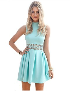 New  Summer Fashion  Women Sexy Summer Sleeveless Hollow Out Casual Evening Party Short Dresses