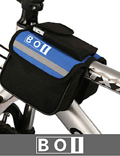 BOI® תיק אופניים 1.9Lתיקים לכידון האופניים עמיד למים / רוכסן עמיד למים / חסין זעזועים / ניתן ללבישה תיק אופניים 600D ריפסטופ / בדתיק