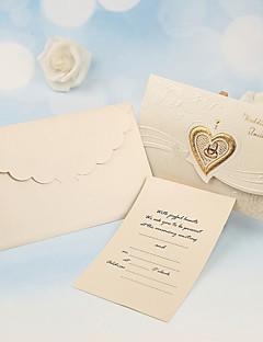 Személyre szabott Tri-Fold Esküvői Meghívók Meghívók-50 Darab / készlet Gyöngy-papír