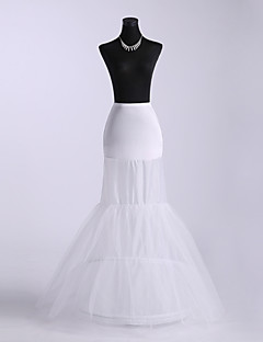 Slips Mermaid and Trumpet Gown Slip Floor-length 3 Tulle Netting/Polyester White
