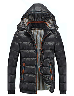 Autumn And Winter Teenage Casual Wadded Jacket Outerwear Male Slim Thermal Cotton-padded Jacket Down Trend Men's