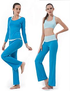 אחרים לנשים יוגה חליפות שרוול ארוך נושם אפרסק / צי יוגה M / L / XL