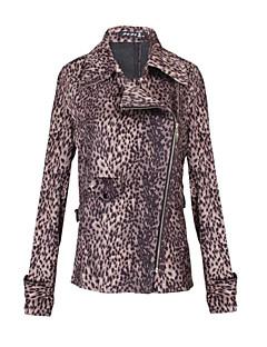 Ležérní Pánvičkový límeček - Dlouhé rukávy - ŽENY - Coats & Jackets ( Bavlna / Polyester )