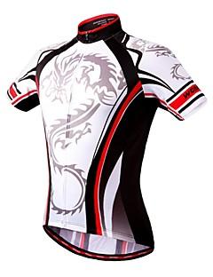 Wosawe® Camisa para Ciclismo Mulheres / Homens / Unissexo Manga Curta Moto Respirável / Secagem Rápida / Compressão / Bolso Traseiro