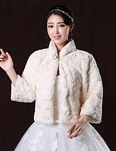 웨딩 / 파티/이브닝 모조 모피 퍼 코트 볼레로 3/4 길이 소매