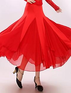 Ballroom Dance Dresses&Skirts Women's Performance Milk Fiber Draped 1 Piece Skirt 90