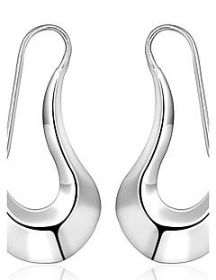 Druppel oorbellen Modieus PERSGepersonaliseerd Sterling zilver Koper Verzilverd Zilver Sieraden Voor Bruiloft Feest Dagelijks Causaal1