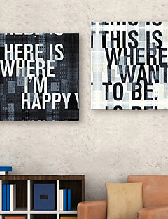 Stretched Canvas Art Words & Quotes Set di 2