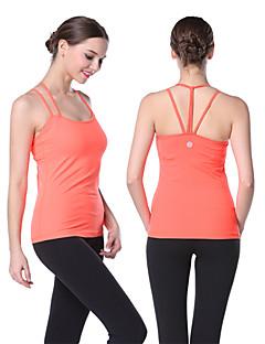Outros ® Ioga tops Permeável á Humidade / Materiais Leves Stretchy Wear Sports Ioga / Pilates / Fitness / Corrida Mulheres