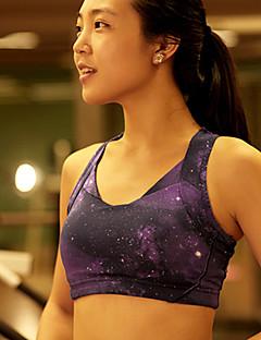 Running Bra / Tops Women's Sleeveless Breathable / Stretch / Sweat-wicking / Soft / Shockproof Nylon / ElastaneYoga / Pilates / Fitness /