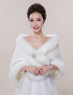 Wedding  Wraps / Fur Wraps Shawls Sleeveless Faux Fur Ivory Wedding / Party/Evening / Casual