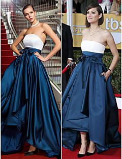 A-linje/Prinsesse Stroppløs - Militærball/Formell Aften Dress - Multi-farge Asymmetrisk Sateng Plus Sizes