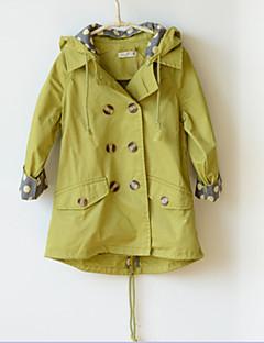 Mädchen Kapuzenpullover / Jacke & Mantel / Trenchcoat einfarbig Baumwollmischung Winter / Herbst Grün