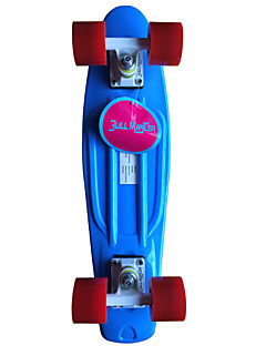 classic Kunststoff-Skateboard (22 inch) cruiser Bord blau mit roten Rädern