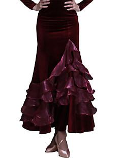 Standardní tance Sukně Dámské Výkon / Trénink Samet Vzor / potisk Jeden díl Přírodní Sukně M:84-86 L:90-92 XL:90-92
