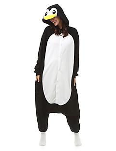 Kigurumi Pajamas Penguin Leotard/Onesie Festival/Holiday Animal Sleepwear Halloween Black Patchwork Polar Fleece Kigurumi For Unisex