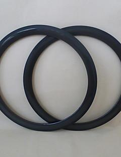 udelsa carbon road felger 45mm dypt 23mm bredt sykkelfelger rørformet 700c (1 par)
