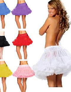 Slips A-Line Slip / Ball Gown Slip Short-Length 2 Tulle Netting TUTU White / Black / Red / Blue / Purple / Pink / Yellow