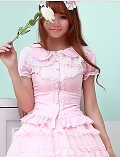 søt lolita hvit / svart / rosa bluse