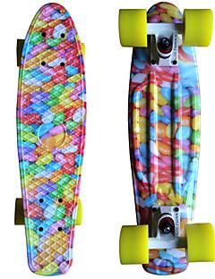 farbenen Ball Grafik gedruckt Kunststoff-Skateboard (22 inch) Cruiser-Board mit ABEC-9 Lager