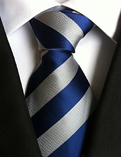 Men Wedding Cocktail Necktie At Work Blue White Tie