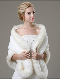 Wedding  Wraps / Fur Wraps Shawls Sleeveless Faux Fur Ivory Wedding / Party/Evening / Casual Open Front