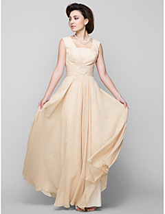 Lanting Bride A-line Mother of the Bride Dress Floor-length Sleeveless Chiffon with Beading