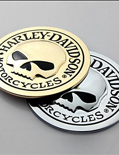 3D Metal Skull Car Sticker Car Decal Sticker Moto Motorcycle Automobile Styling