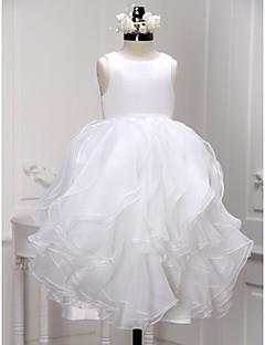 Lanting nevěsta ® a-linie kotník-délka květin šaty - organza bez rukávů s kopeček