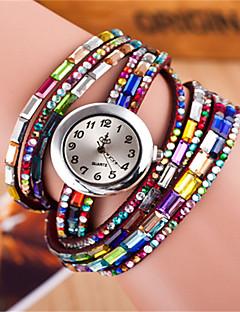 Damen Modeuhr Armband-Uhr Quartz Mehrfarbig Leder Band Glanz Böhmische Schwarz Weiß Rot Marke