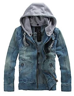 Man Fashion Detachable Denim Jacket Men Sportswear Outdoors Casual Jackets veste homme Jeans Jacket Men Plus Size SOUH7