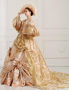 steampunk®georgian gull viktoriansk partiet kjole Marie Antoinette wholesalelolita rokokko prinsesse kjole