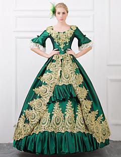 /שמלותחתיכה אחת לוליטה גותי Steampunk® / ויקטוריאני Cosplay שמלות לוליטה אדום / ירוק וינטאג' חצי שרוול ארוך שמלה ל נשיםסאטן / תחרה /