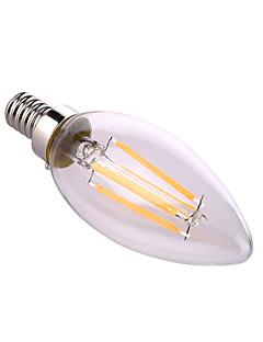 8W E12 LED-kynttilälamput A60(A19) 4 COB 640 lm Lämmin valkoinen / Neutraali valkoinen Koristeltu AC 110-130 V 1 kpl