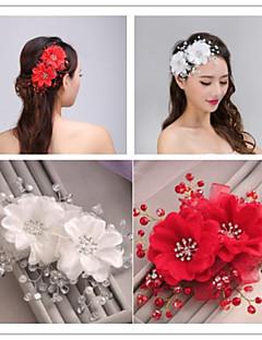 Ženy Tyl Imitace perly Přílba-Svatba Zvláštní příležitost Hřebeny na vlasy Květiny Jeden díl