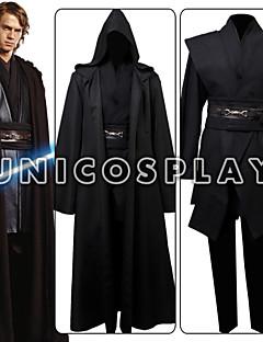 Star Wars Anakin Skywalker Movie Halloween Cosplay Costume Outfit Black Cloak Full Set