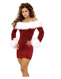 תחפושות קוספליי / תחפושת למסיבה חליפות סנטה פסטיבל/חג תחפושות ליל כל הקדושים אדום טלאים שמלה / צמיד האלווין (ליל כל הקדושים) / חג המולד