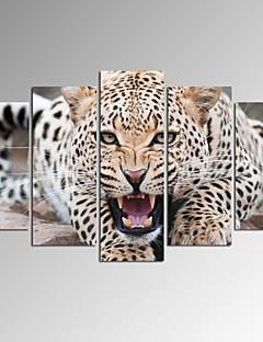 Animal / Fantaisie / Photographie / Patriotique / Moderne / Romantique / Pop Art / Voyage Toile Cinq Panneaux Prêt à accrocher ,Format