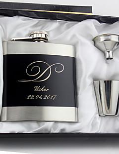 Bruidegom / Stalknecht / Echtpaar / Ouders Gifts-4 Stuk / Set Flacons Bruiloft / Gedenkdag / Verjaardag / Zakelijk Roestvrij Staal
