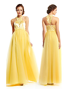 TS Couture® Formal Evening Dress - Daffodil A-line Jewel Floor-length Tulle / Charmeuse
