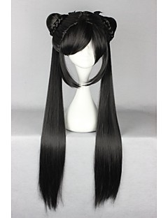 Lolita Wigs Sweet Lolita Lolita Long Black Lolita Wig 80 CM Cosplay Wigs Solid Wig For Women