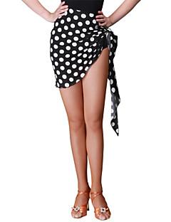 ריקוד לטיני חלקים תחתונים בגדי ריקוד נשים ביצועים זהורית / קטיפה / מילק פייבר קפלים חלק 1 טבעי חצאית 42cm-43cm