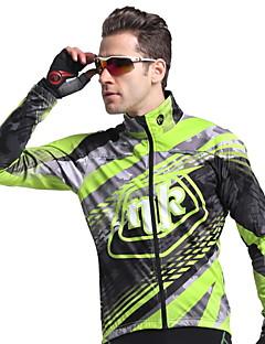 Nuckily Cyklo bunda Dámské Unisex Dlouhé rukávy Jezdit na kole sakoZahřívací Větruvzdorné Anatomický design Zateplená podšívka Odolný