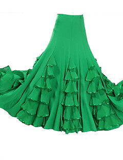 Ballroom Dance Tutus & Skirts Women's Performance Spandex / Crepe Draped 1 Piece 6 Colors