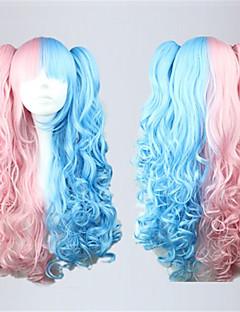 Sød Lolita 70CM Lang Pink Lolita Wig